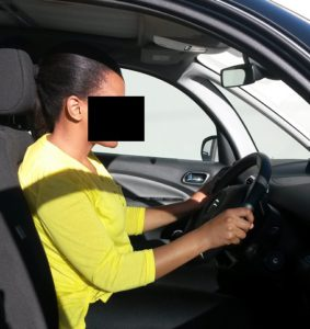 Too upright driving posture